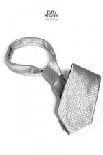Cravate de Christian Grey - Fifty Shades of Grey - La cravate du c�l�bre gentleman Christian Grey, pour une utilisation �loign�e de sa fonction sociale initiale...