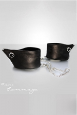 Menottes Manchettes - Faire Hommage : Un luxueux accessoire à porter comme menottes fantaisie ou comme bracelets de poignets.